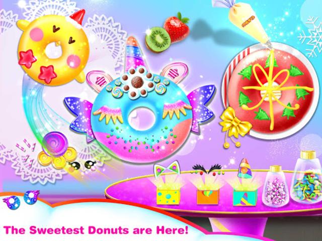 Cook Donut Maker - Unicorn Food Baking Games screenshot 6