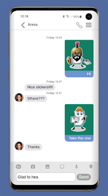 free video calling stickers for chat & text screenshot 1