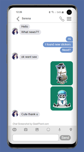 free video calling stickers for chat & text screenshot 2