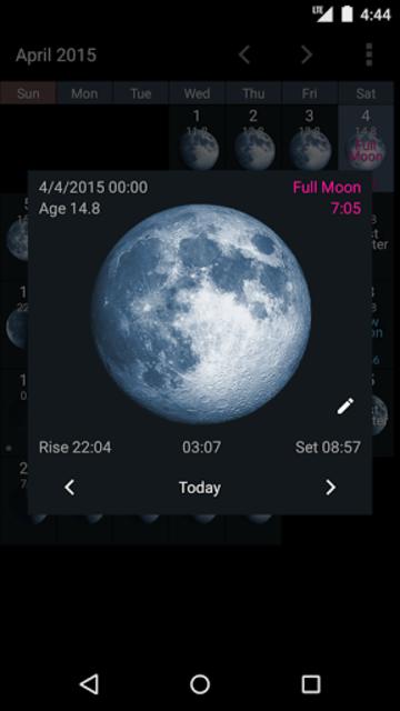 Simple Moon Phase Widget Plus screenshot 4
