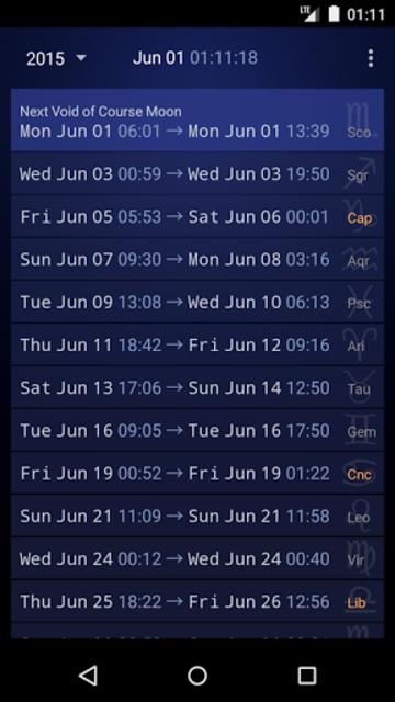 Simple VoC Moon Calendar screenshot 1