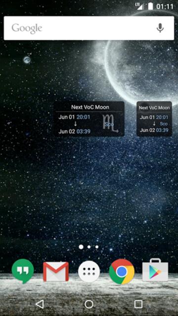 Simple VoC Moon Calendar screenshot 3