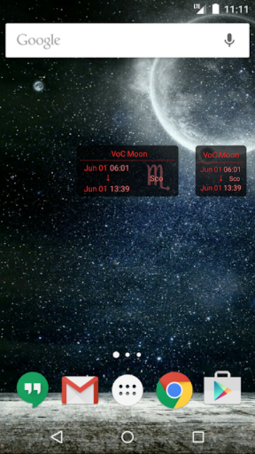 Simple VoC Moon Calendar screenshot 4
