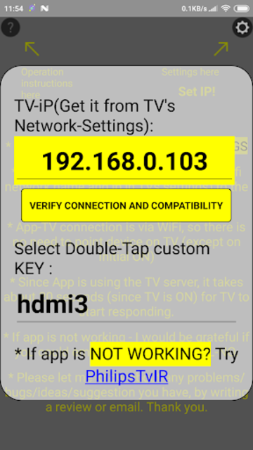 Remote for Philips TV(until 2015) Simple WiFi screenshot 2