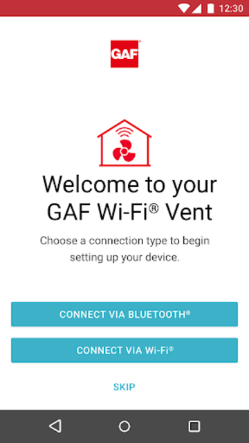 GAF Wi-Fi VENT screenshot 1