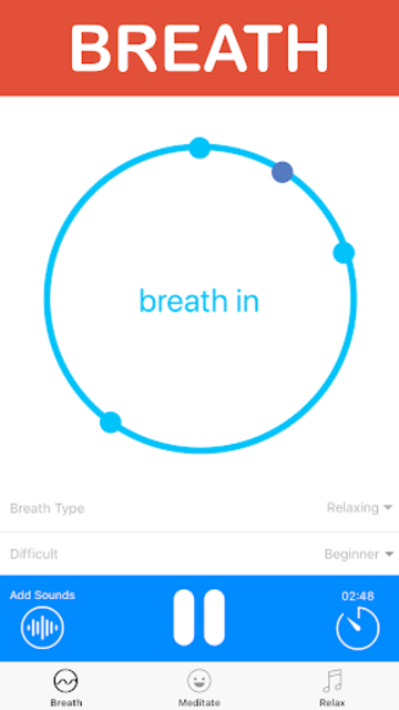Meditate: Guided Meditation & Breathing Exercises screenshot 1