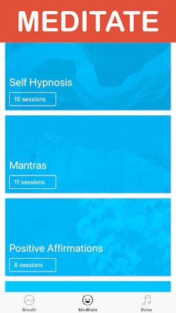 Meditate: Guided Meditation & Breathing Exercises screenshot 2