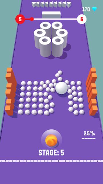 Color Push - Protect the ball 3D! screenshot 4