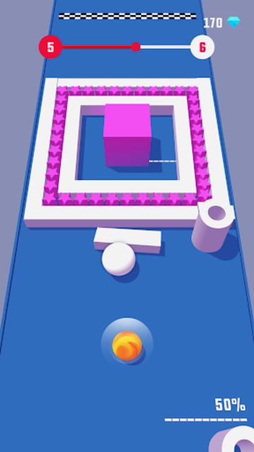 Color Push - Protect the ball 3D! screenshot 5