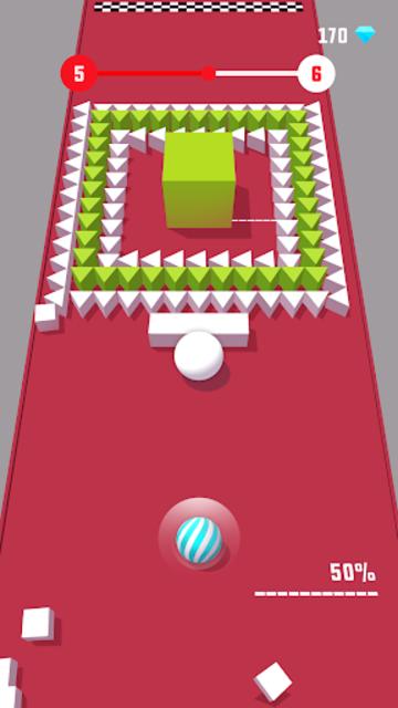 Color Push - Protect the ball 3D! screenshot 6