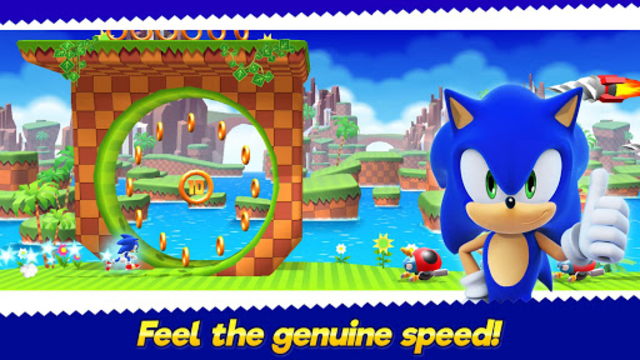 Sonic Runners Adventure - Fast Action Platformer screenshot 1