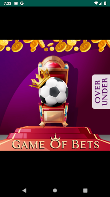 Game of Bets Betting Tips Over/Under VIP screenshot 1