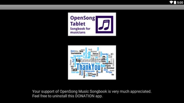 OpenSongApp DONATION screenshot 2
