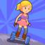 Hoverboard Rider Skaty Girl