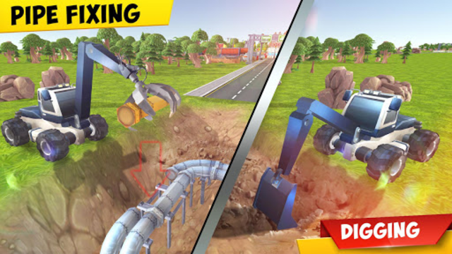 Mega Excavator Heavy Road Construction Machines screenshot 5