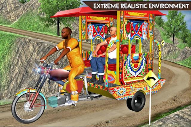 Drive Hill Chingchi Rickshaw: Offroad Driving screenshot 8