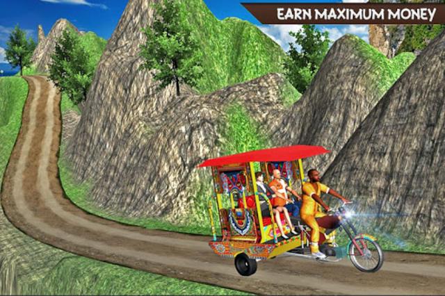 Drive Hill Chingchi Rickshaw: Offroad Driving screenshot 9