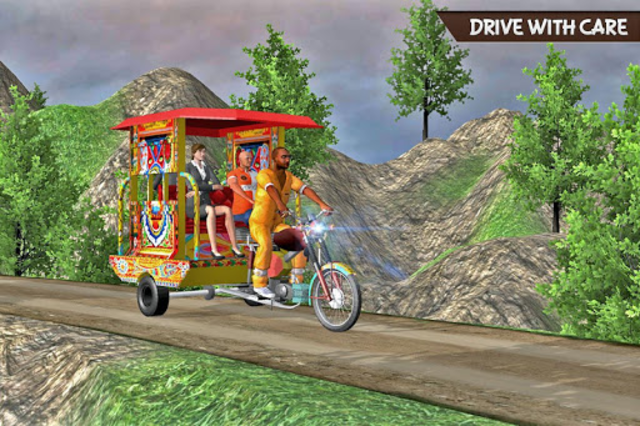 Drive Hill Chingchi Rickshaw: Offroad Driving screenshot 12