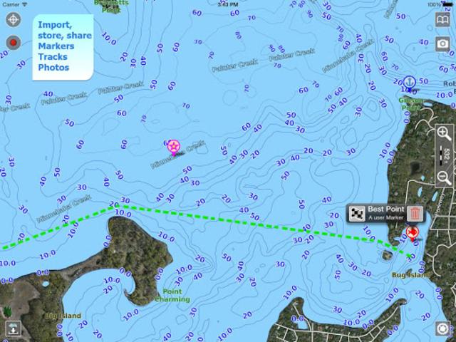 Aqua Map Lakes - Fishing Chart screenshot 9