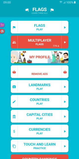 Flags and Capitals of the World Quiz screenshot 1