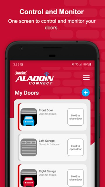 Aladdin Connect screenshot 1