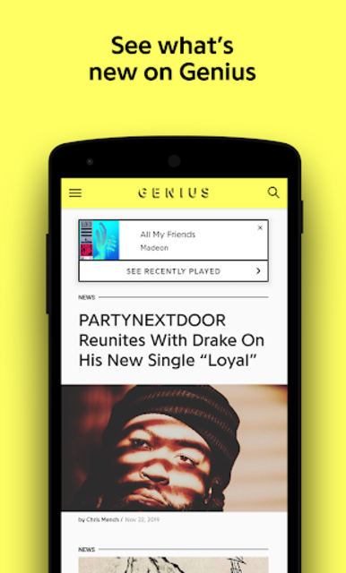 Genius — Song Lyrics & More screenshot 1
