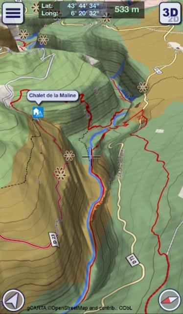 GeoFlyer Europe 3D - Offline Maps GPS Routing screenshot 2