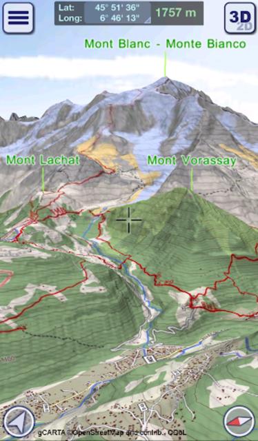 GeoFlyer Europe 3D - Offline Maps GPS Routing screenshot 3