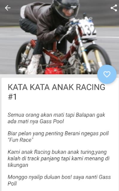 About Kumpulan Kata Kata Anak Racing Keren Google Play