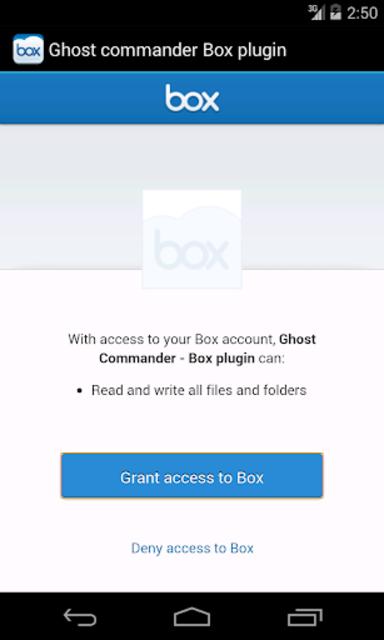 Ghost Commander plugin for BOX screenshot 2