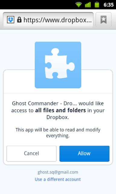 GC Plugin for Dropbox screenshot 1