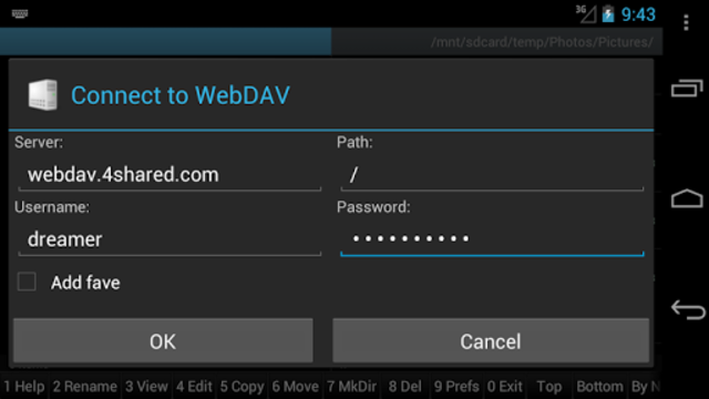 WebDAV for Ghost Commander screenshot 1