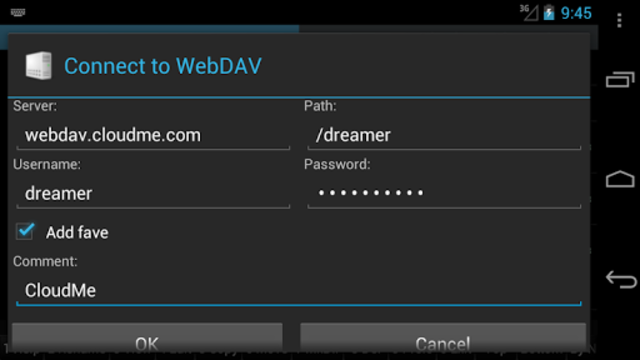 WebDAV for Ghost Commander screenshot 2