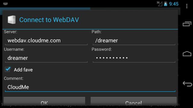 WebDAV for Ghost Commander screenshot 2