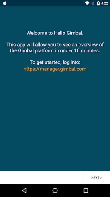 Hello Gimbal screenshot 1