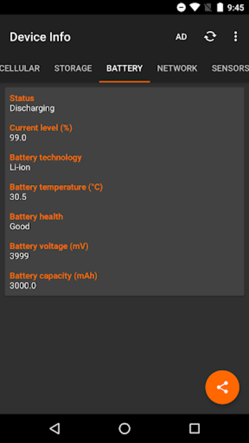 Device Info - Hardware and Software Information screenshot 4