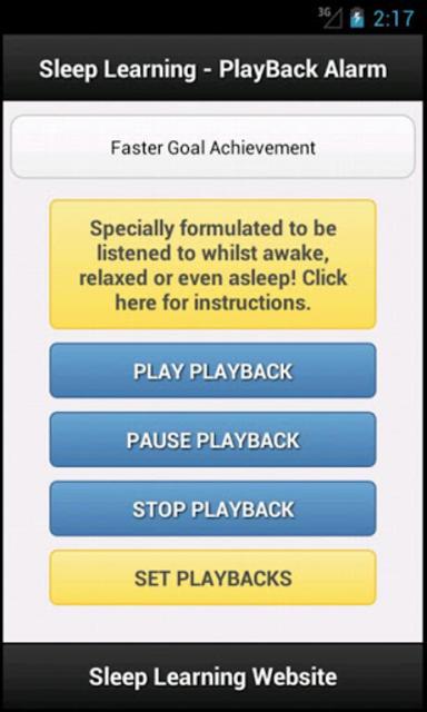 Achieve Goals Sleep Affirmations screenshot 1