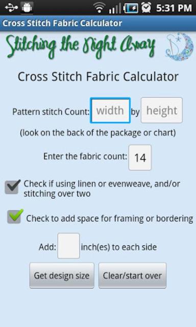 XStitch Fabric Calculator Pro screenshot 3
