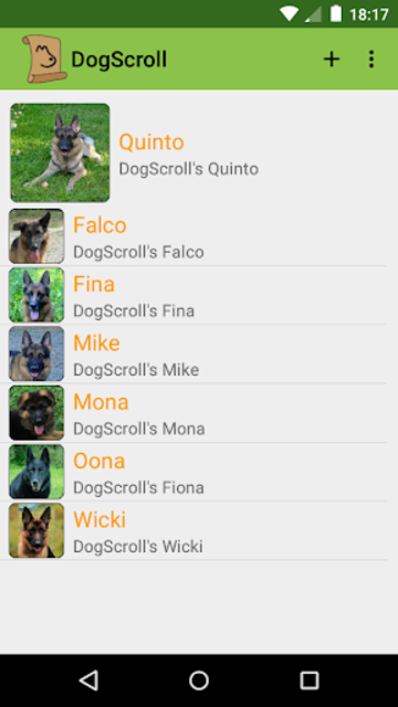 DogScroll - Dog Training Diary screenshot 1