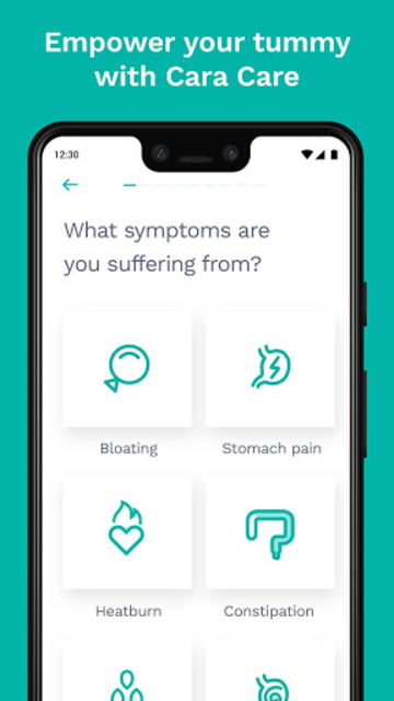 Cara Care: Food, Mood, Poop Tracker for IBS & IBD screenshot 1