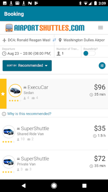 AirportShuttles.com Rides screenshot 2