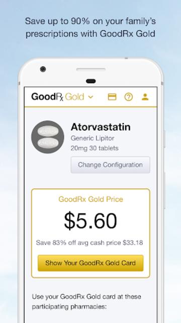 GoodRx Gold - Pharmacy Discount Card screenshot 1