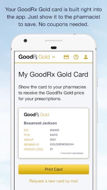 GoodRx Gold - Pharmacy Discount Card screenshot 2
