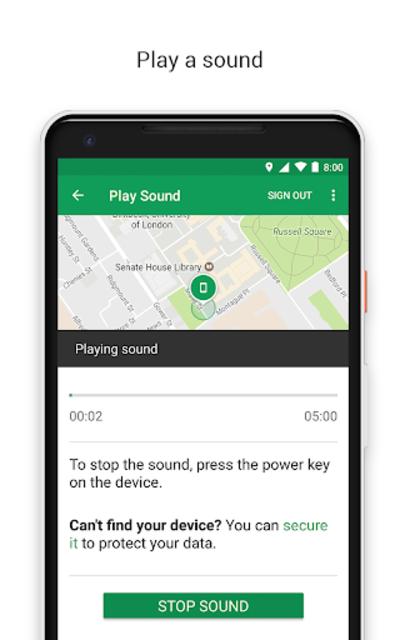 Google Find My Device screenshot 2