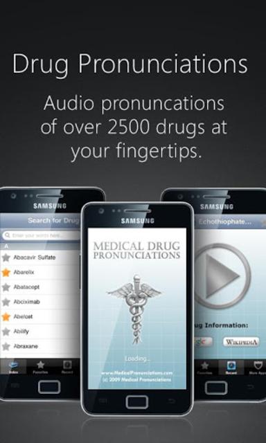 Drug Pronunciations screenshot 1