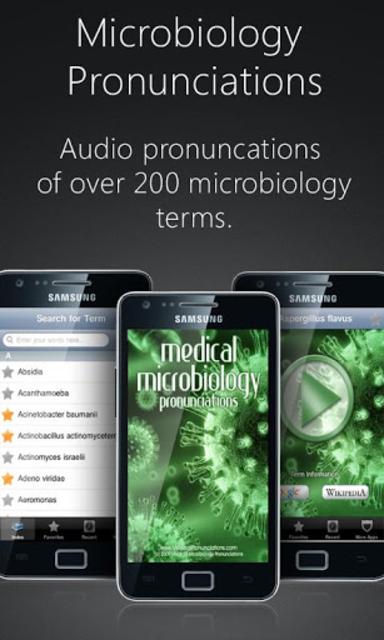 Microbiology Pronunciations screenshot 1