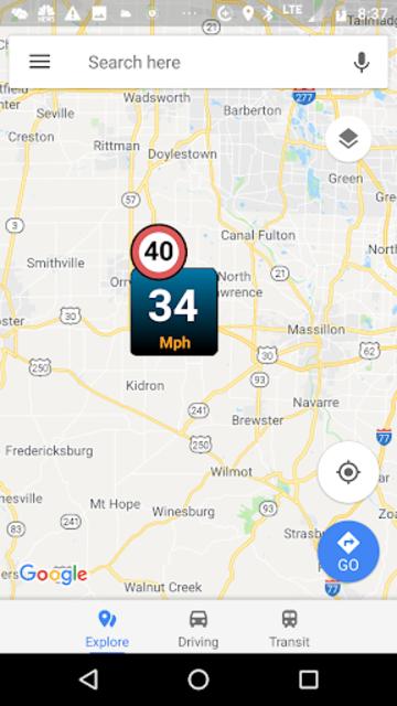 Car GPS Expert, Speed Limit &Floating speedometer. screenshot 2