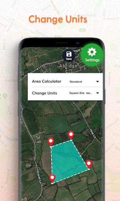 GPS Area Measurement Calculator screenshot 2
