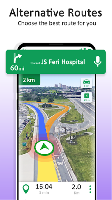 GPS Maps Navigation - Driving Route Planner Free screenshot 1