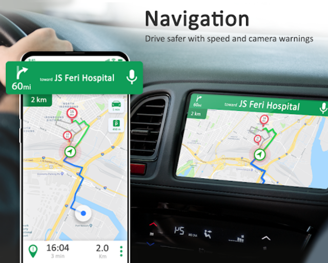 GPS Maps Navigation - Driving Route Planner Free screenshot 2